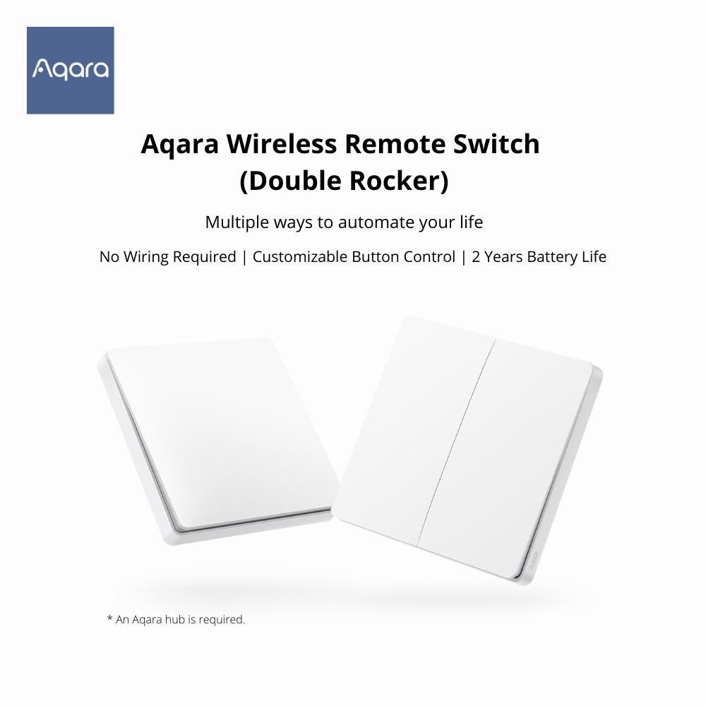 Wireless Remote Switch – Double Rocker (Aqara)